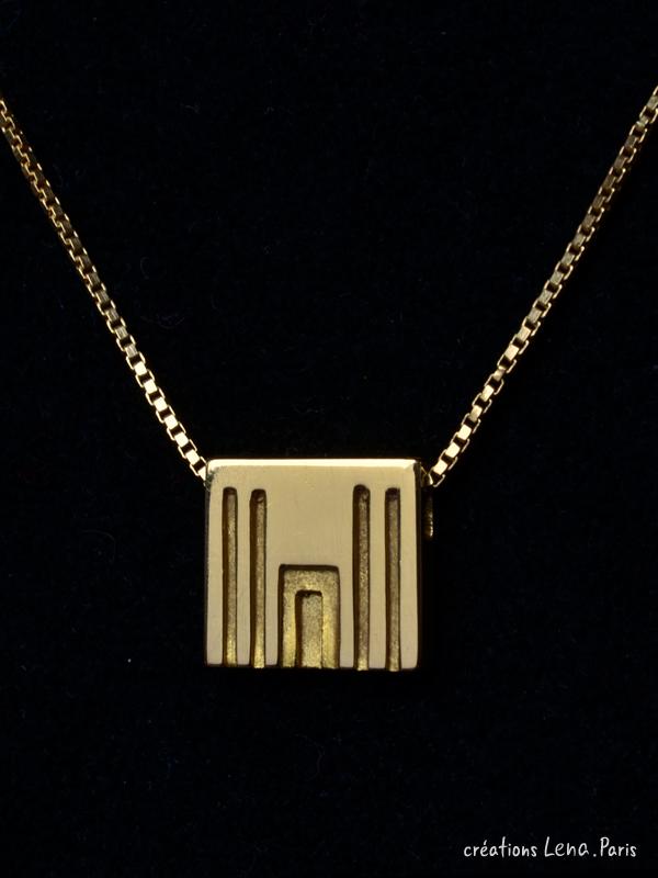 pendentif Porte de l'éternite - Or